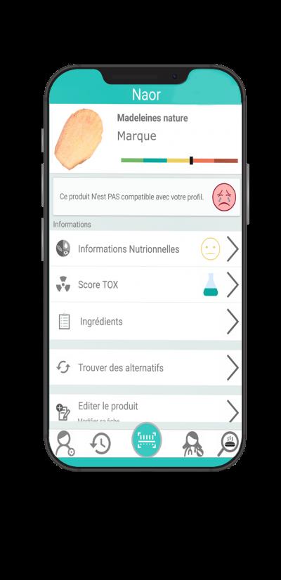 application mobile naor suivi nutritionnel - toxicité